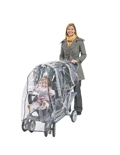 Comfy Baby! Rain Cover / Wind Shield for Twin Limo Tandem 2 Canopy Double Strollers - Clear