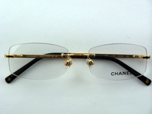 Authentic Chanel 2073 c.125 Gold Rimless Eyeglasses ...