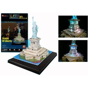 Statue of Liberty 3D Puzzle with LED - 37 Pieces