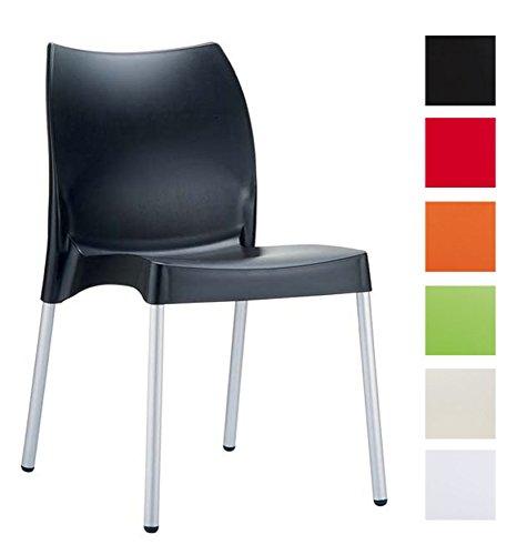 CLP-hochwertiger-Design-Gartenstuhl-Kchenstuhl-Stapelstuhl-VITA-stapelbar-wasserabweisend-UV-bestndig-Farbwahl-schwarz