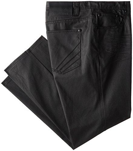 Akademiks Men's Big-Tall Robertson Coated Denim Jean, Black, 54x32