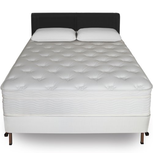 Best Price Sleep Master 13-Inch Euro Top Spring Mattress and Bi-Fold Box Spring Set, Queen