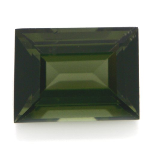 Natural Africa Green Tourmaline Loose Gemstone Emerald Cut 8*6m 1.65cts VS Grade