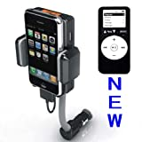 iPhone FM Transmitter 4-in-1 Car Kit - FM Transmitter Charger Holder - works with ALL iPod/iPhone 3G and iPhone 3GS