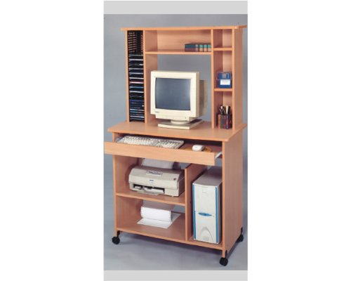 Buy Low Price Comfortable Computer Desk with Cd Rack in Oak Finish ADS6035 (B004PWAMF2)