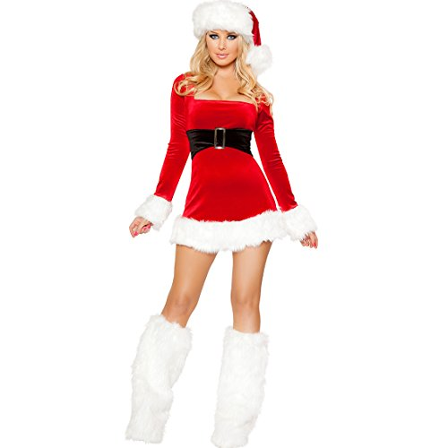 Sexy Miss Santa Womens Fancy dress outfit Mrs Xmas Costume Size 8 10 12