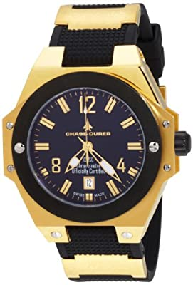 Chase-Durer Men's 777.6BB Conquest Automatic COSC 18K Gold-Plated Watch