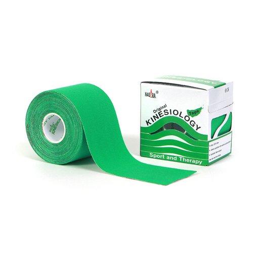 Nasara Kinesiology Tape 5 cm x 5 m verde nastro