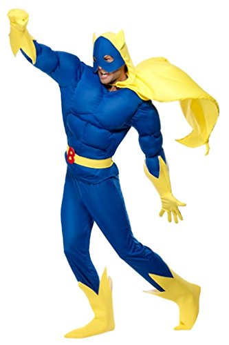 Smiffys Bananaman 80s Cartoon Costume Adult - M, L or XL