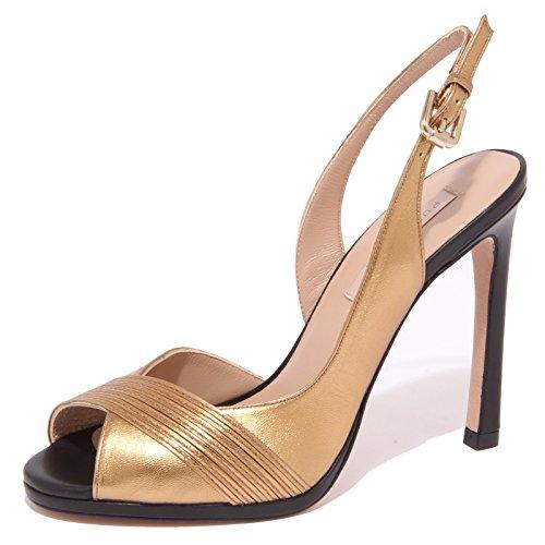 8875P sandalo PURA LOPEZ oro scarpa donna shoe sandal woman [38]