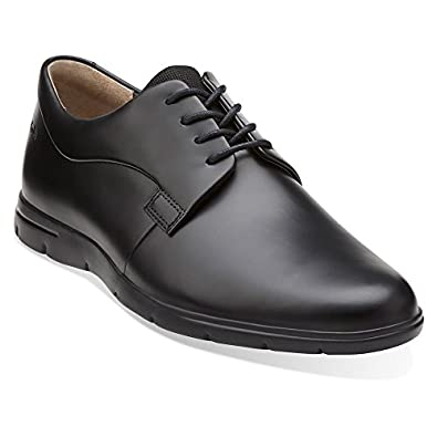 Clarks Men's Denner Motion Black Leather 7 M US