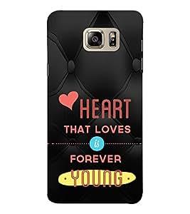 EPICCASE young heart Mobile Back Case Cover For Samsung Note 6 (Designer Case)