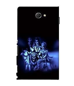 printtech Om Namah Shivaya parvati Back Case Cover for Sony Xperia M2 Dual D2302::Sony Xperia M2
