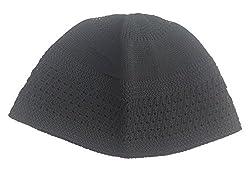 Stycoon Solid Namaaz Taqiyah Cap - Black