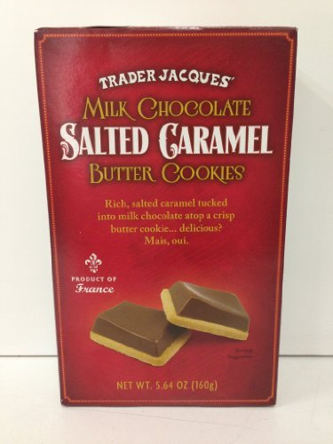 Trader Joe's Trader Jacques Milk Chocolate Salted Caramel Butter Cookies
