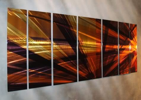 Contemporary Metal Wall Decor – Unique Artwork – Modern Painting