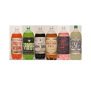 SPOOKY SODA BOTTLE LABELS (4 count)