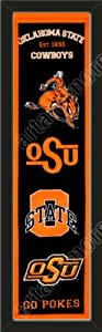 Heritage Banner Of Oklahoma State-Framed Awesome & Beautiful-Must For A... by Art and More, Davenport, IA