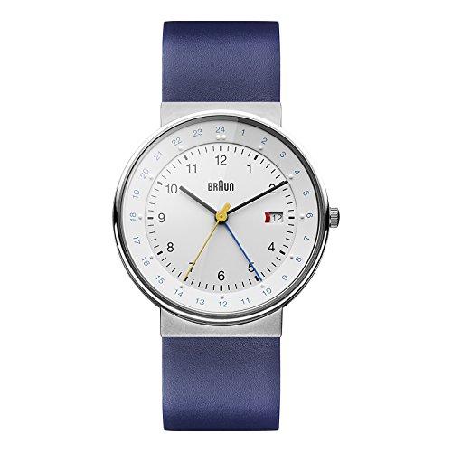Braun Men's BN0142WHBLG GMT World Timer Analog Display Swiss Quartz Blue Watch (Braun Quartz Watch compare prices)