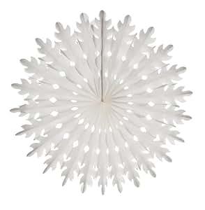 "19"" Rice Paper Sunburst - White (3 count)"