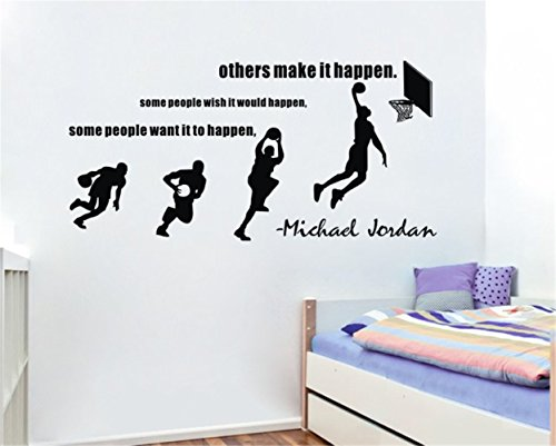 87X100Cm Nba Star Jumping Basketball Player Slam Dunk Wall Stickers Home Decals Sport Print