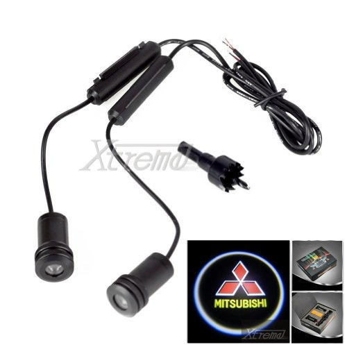 Xtreme® 5W 4Th Generation 2X Led Car Door Laser Projector Ghost Shadow Step Light Logo For Mitsubishi