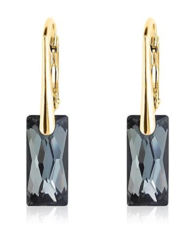 Swarovski Elements by Philippa Gold Pendientes Long Rectangle Metal Dorado