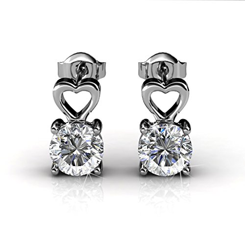 Tk Beauty Valentine's Day Swarovski Elements 18K white gold plating Crystal Earring