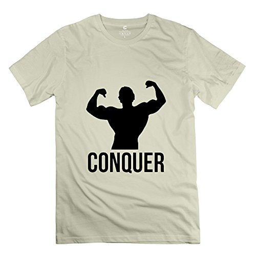 Custome Men'S Conquer T-Shirts Natural Size Xl