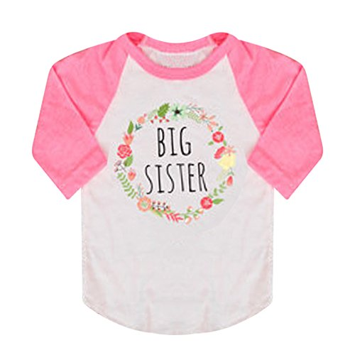 XWDA Toddler Baby Girls Long Sleeve T-shirt Tops(2T,Pink)