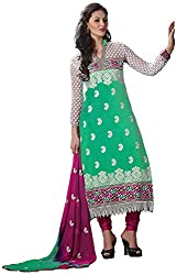 Shyam Fab Women's Cotton Dress Material (Green)