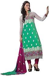 Shyam Fab Women's Cotton Dress Material (Green)