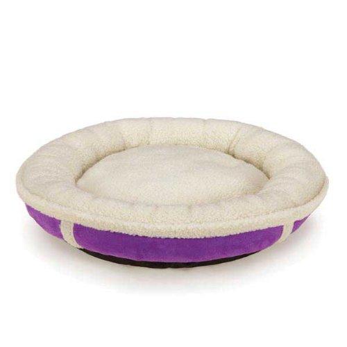 slumber pet sherpa donut pet bed   x large   ultra violet