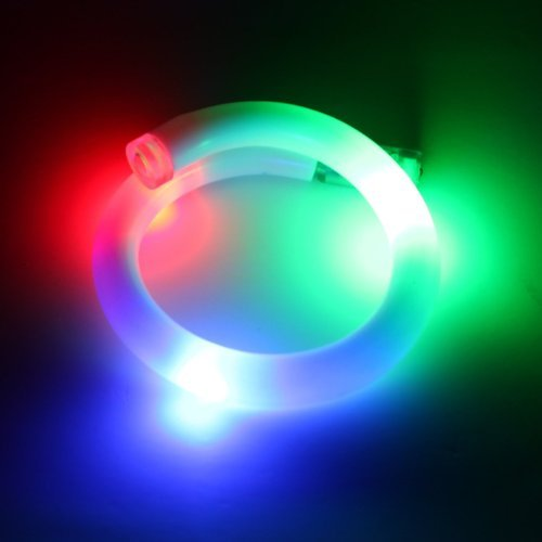 LED Bracelet - Glowing Red Green Blue Light Up Rave Bracelet