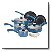 Paula Deen Signature Porcelain Nonstick 15-Piece Cookware Set