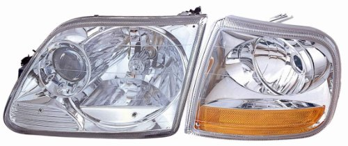 COMBO DEPO Euro Clear Fog Lights Signal Lights For 03 04 05 06 07 Cadillac CTS