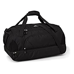 High Sierra Crossport 2 Wallop Duffel Bag, Black