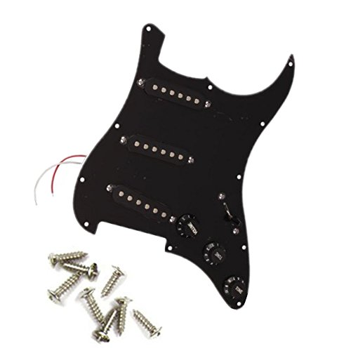 lsgoodcare 1pack black loaded prewired pickguard sss