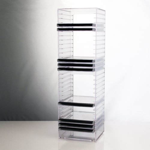 Best Buy! Clear CD Tower - holds 30 standard CD jewel cases