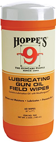 Hoppe's No. 9 Large Lubricating Gun Oil Field Wipes (Hoppe Oil compare prices)