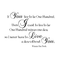 Winnie the Pooh quote If you live to be one hundered by Wheeler3Designs