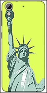 Snoogg Statue Of Liberty Designer Protective Back Case Cover For HTC Desire 626