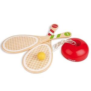 Janod - 03016 - Jeu de Plein Air - Jeu de Raquettes - Tennis City