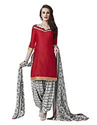 Kvsfab Multicolor Glace Cotton Printed Work un-stitched Patiala Suits