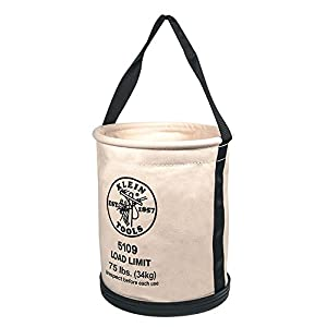 Klein Tools 5109 6 Canvas Wide-Opening Straight-Wall Bucket