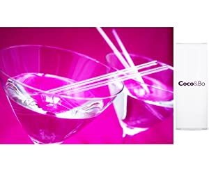 "20 x Coco&Bo - Diamond Ice Clear Martini 5.5"" Sip Straws - Cocktail Accessories - Drinks Party Decoration Hollywood / 007 James Bond or Vegas Casino Night Theme Parties"