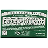 Dr. Bronners Castile Bar Soap 5oz (2 Pack)