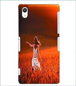 PRINTSWAG HAPPY GIRL Designer Back Cover Case for SONY XPERIA Z2