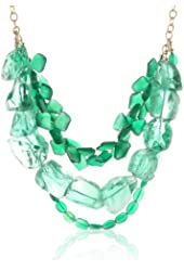 Devon Leigh Green Onyx and Green Quartz Multi-Strand Necklace