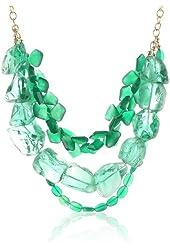 Devon Leigh Green Onyx and Green Quartz Multi-Strand Necklace